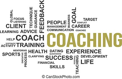 word cloud - coaching - A word cloud of coaching related...