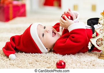 Baby weared Christmas clothes - Baby boy weared Christmas...