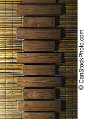 Wooden planks and cane