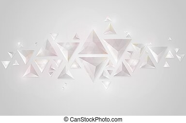 Abstract geometric crystal background
