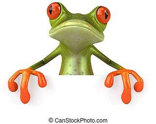 amusement, grenouille, vide, signe