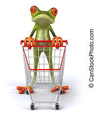 Fun frog shopping