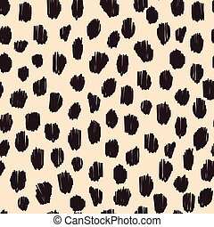 Hand drawn seamless stylized animal skin pattern - Hand...