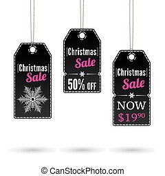 Christmas sale label - Black Christmas labels for sale and...