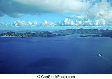 British Virgin Islands - Aerial shot of the British Virgin...