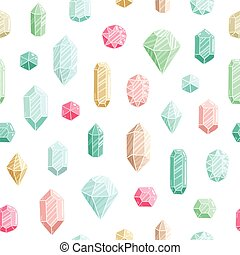 Gemstones seamless pattern