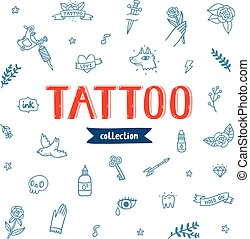 Tattoo doodles collection - Vector collection of various...
