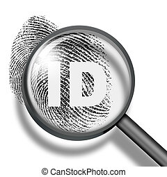 fingerprint identification biometrics concept - fingerprint...
