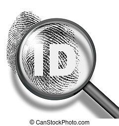 fingerprint identification biometrics concept - fingerprint...