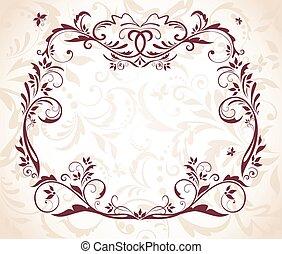 Wedding floral frame