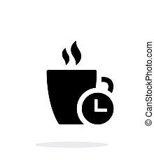 Coffe cup with Time simple icon on white background. Vector...