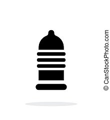 Ribbed condom icon on white background. Vector illustration.