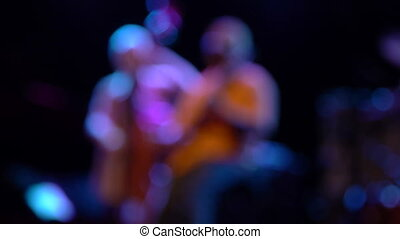 musicians unfocused - unfocused musicians in a jazz festival...