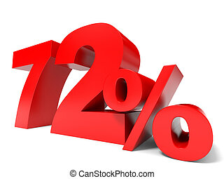 Red seventy two percent off Discount 72 3D illustration