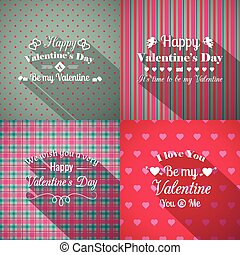 Valentine%u2019s Day greeting cards set
