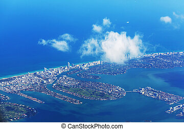 Miami - Aerial view of Miami, Florida, USA