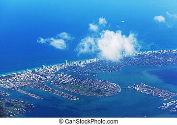 Miami - Aerial view of Miami, Florida, USA