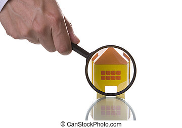 Finding a house - Finding a new house concept (isolated on...