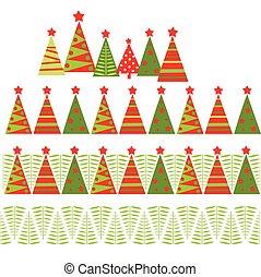 Seamless christmas border
