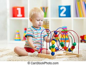 屋内, 教育, おもちゃ, 遊び, 子供