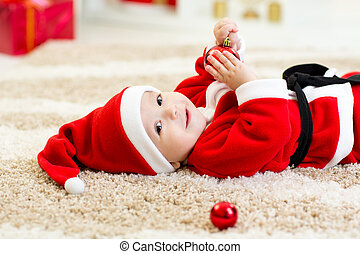 Cute Baby weared Christmas clothes - Cute Baby boy weared...