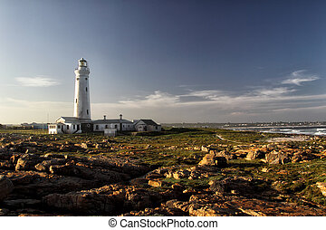 Seal Point Lighthouse in Cape St. Francis, South Africa -...