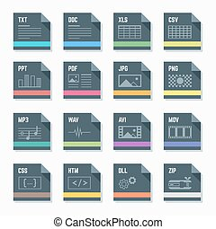 Illustr,  Set, formaten, bestand, iconen