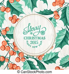 Holiday invitation card. - Holiday invitation card with...