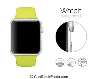 Smart watch isolated on white background Vector illustration...