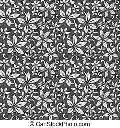 Black and White Flower Tropical Pattern