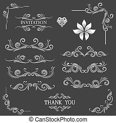 Vintage Line Art Ornamental
