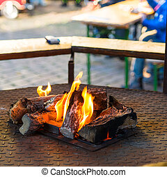 Fire pit on the weekly market