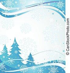 Inverno, azul, bandeira,