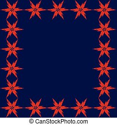 Blue background with red stars