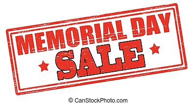 Memorial day - Rubber stamp with text memorial day inside,...