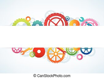 Gears background, vector illustration