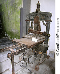 Ancient italian printing press - Ancient printing press of...