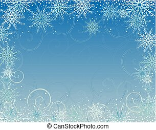 Winter card with snowflake