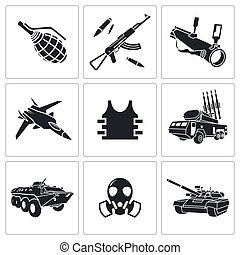 Armament Icon set - Armament vector icon collection on a...