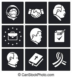Minsk agreement Vector Icons Set - political agreements Icon...