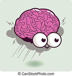 Brain storm cartoon character - Illustration of a cartoon...