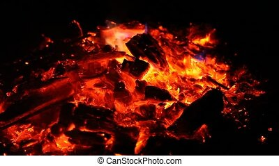Embers of big fire