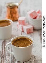 fröjd, kaffe, turkisk