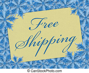 Free Shipping - A Free Shipping card, A Card with words Free...