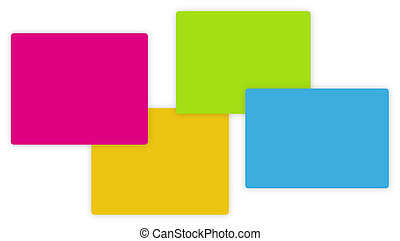 Full color abstract interaction graphic