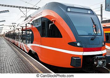Modern european train in Estonia