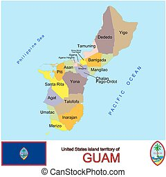 Guam Counties map