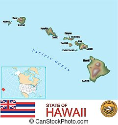 Hawaii Counties map