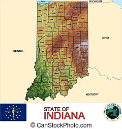 Indiana Counties map
