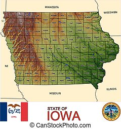Iowa Counties map